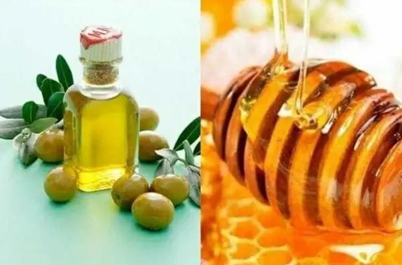 mật ong và dầu ô liu