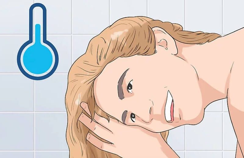 Gội tóc với nước mát