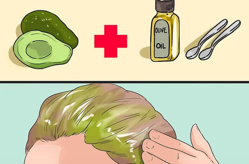 Tự làm mặt nạ tóc tự nhiên.