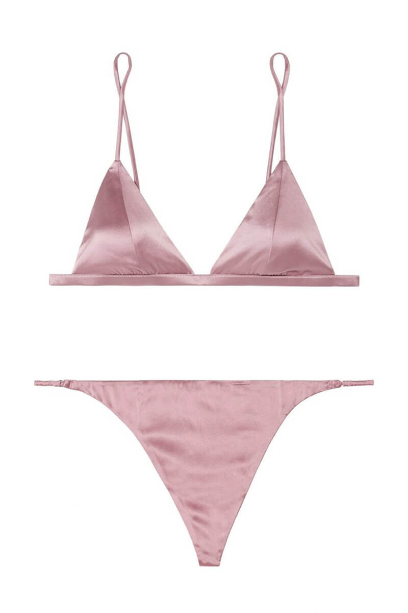 Fleur du Mal luxe satin set, £150 at Net-A-Porter
