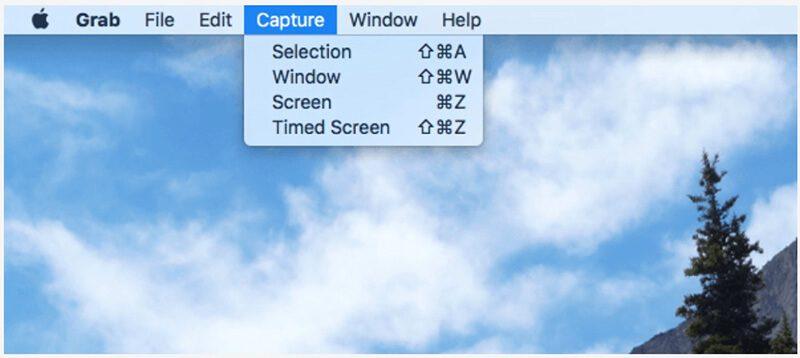 Chụp ảnh màn hình máy Mac với GRAB