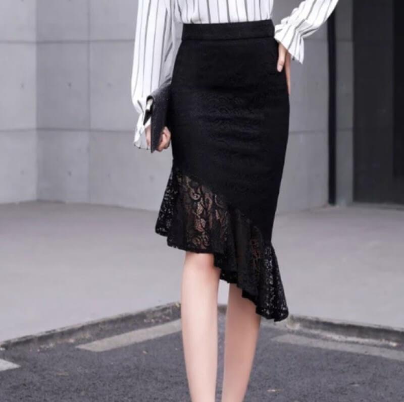 Chân váy đuôi cá là món đồ được các cô nàng mê tít vì nó mang đến vẻ đẹp thanh lịch